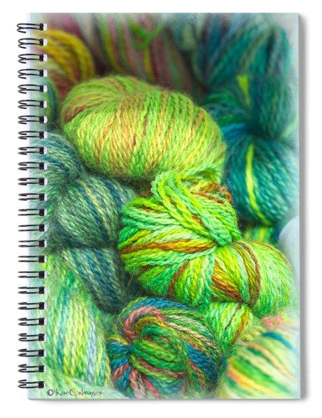 Colorful Skeins Of Yarn Spiral Notebook
