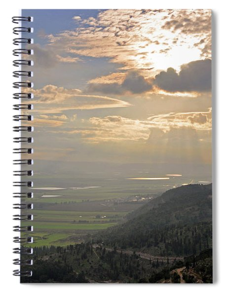 Colorful Skies  Over The Jezreel Valley 2 Spiral Notebook