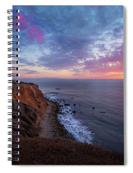 Colorful Sky After Sunset At Point Vicente Lighthouse Spiral Notebook