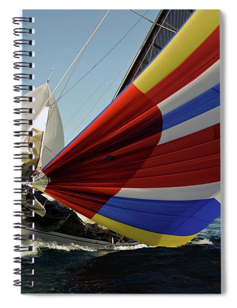 Colorful Spinnaker Run Spiral Notebook