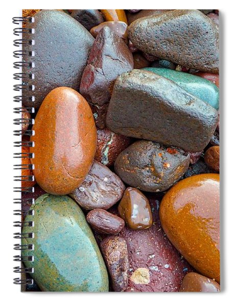 Colorful Wet Stones Spiral Notebook