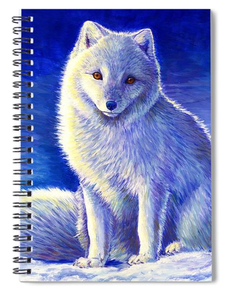 Peaceful Winter Arctic Fox Spiral Notebook
