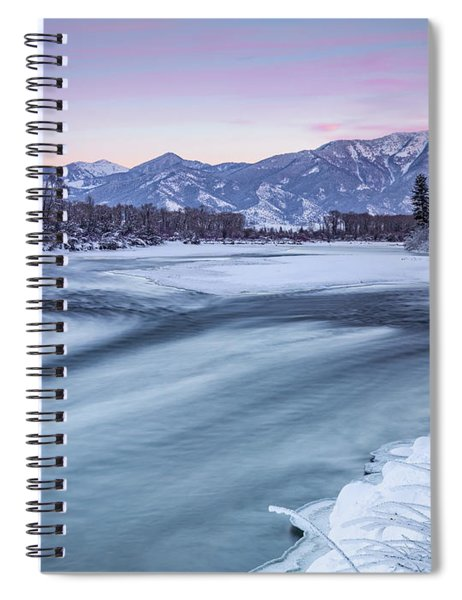 Colorful Winter Morning Spiral Notebook