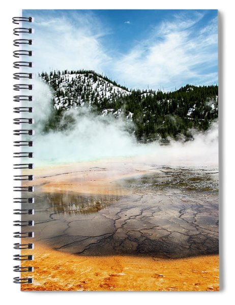 Spiral Notebook featuring the photograph Colors Of Yellowstone by Scott Read
