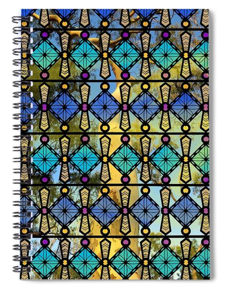 Colour Glass Window View To The Gums Spiral Notebook