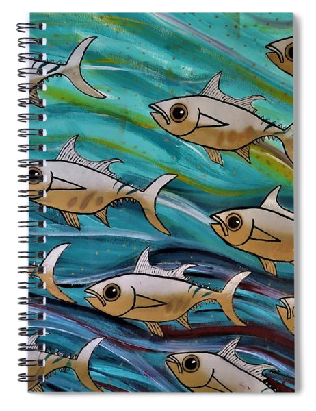 Coloured Water Fish Spiral Notebook
