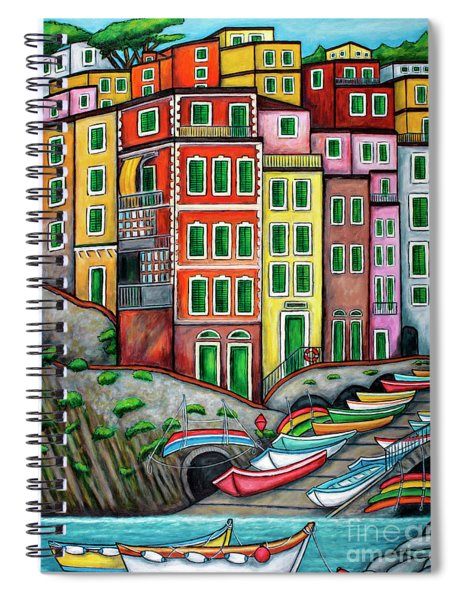 Colours Of Riomaggiore Cinque Terre Spiral Notebook