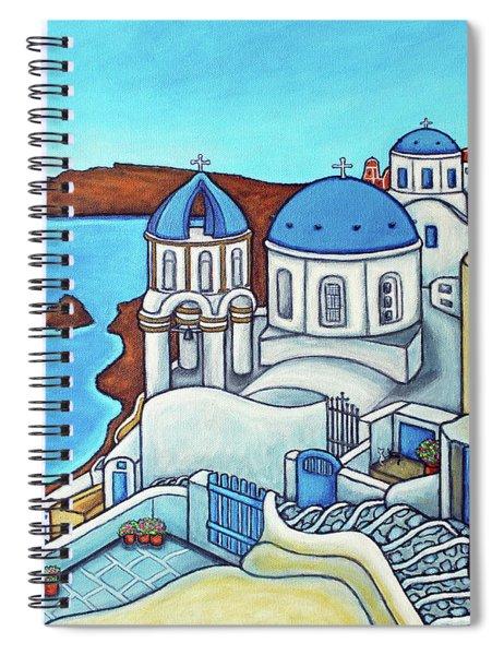 Colours Of Santorini Spiral Notebook