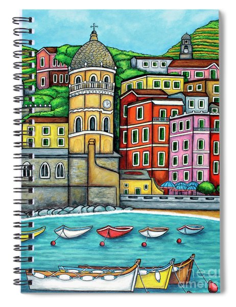 Colours Of Vernazza Spiral Notebook