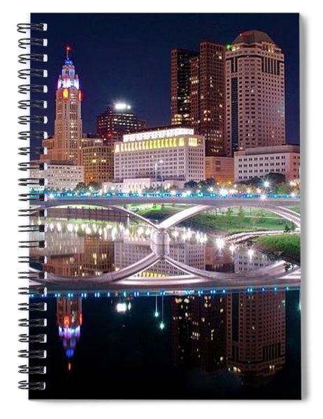Columbus Ohio Full Moon Pano Spiral Notebook
