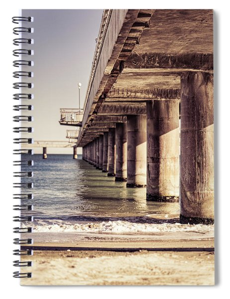 Columns Of Pier In Burgas Spiral Notebook