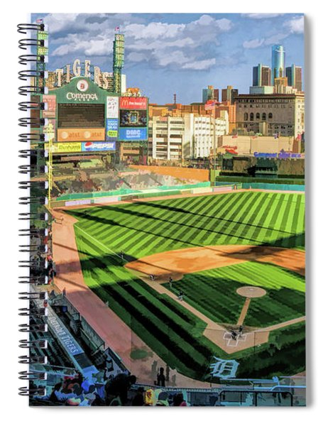 Comerica Park Detroit Tigers Baseball Ballpark Stadium Spiral Notebook