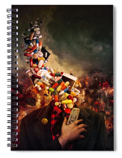 Comfortably Numb Spiral Notebook