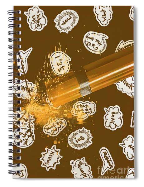 Comical Charge Spiral Notebook