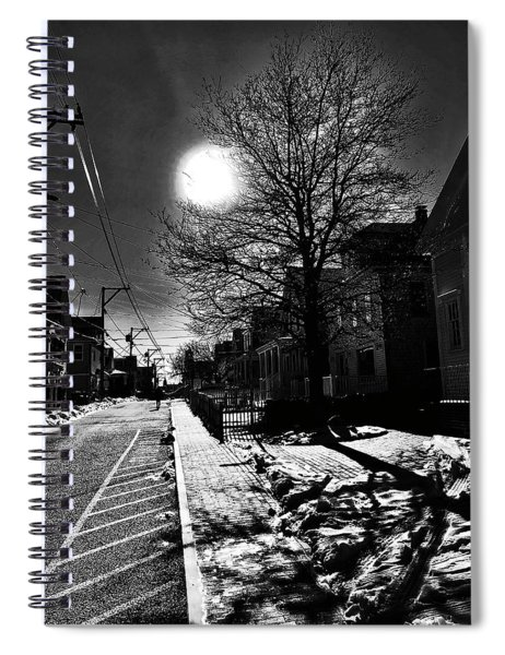 Commercial Street Shadows Spiral Notebook