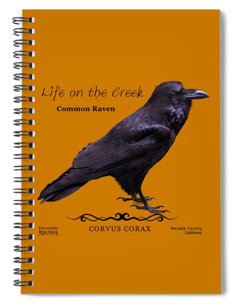 Common Raven Spiral Notebook