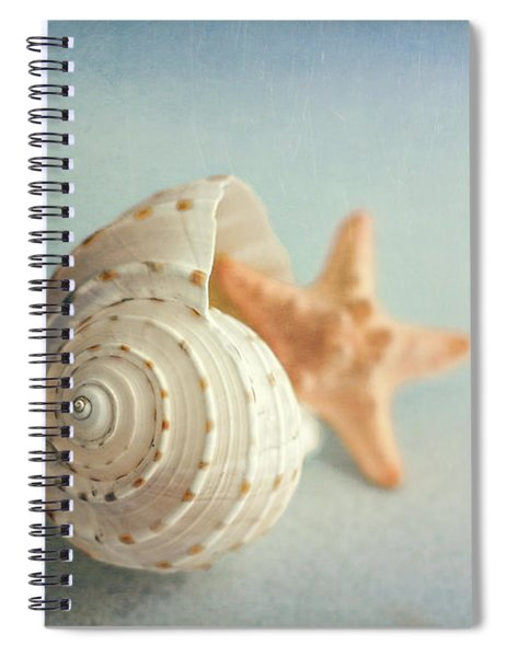 Conch Shell And Starfish Spiral Notebook