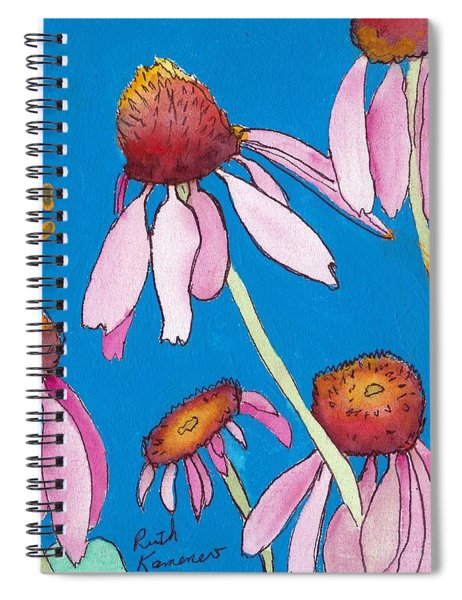 Yellow Coneflowers Spiral Notebook