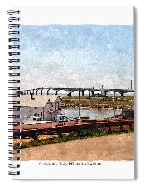 Confederation Bridge Pei 1 Spiral Notebook