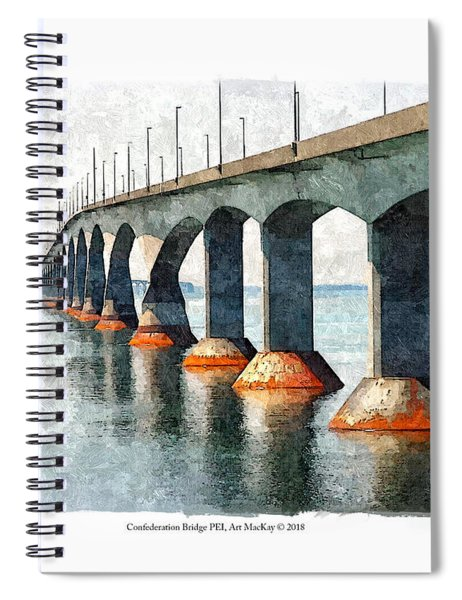 Confederation Bridge, Pei 2 Spiral Notebook