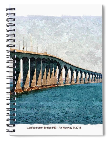 Confederation Bridge, Pei 3 Spiral Notebook