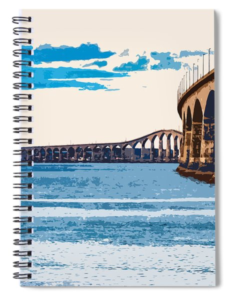 Confederation Bridge, Pei 4 Spiral Notebook