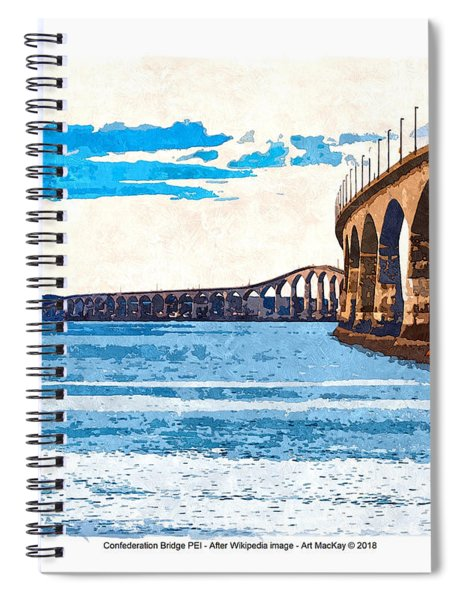 Confederation Bridge, Pei 5 Spiral Notebook