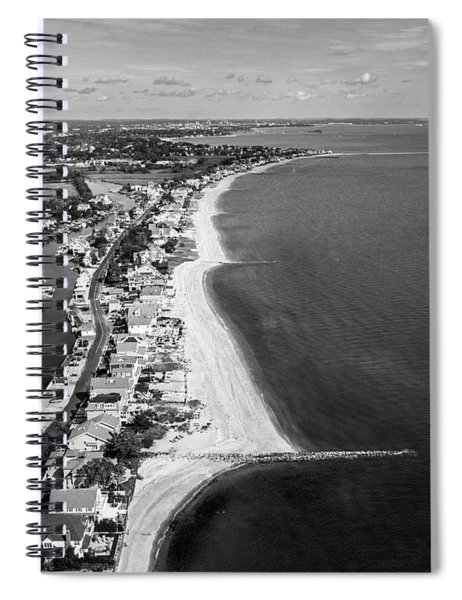 Connecticut's Fairfield Beaches Aerial Spiral Notebook