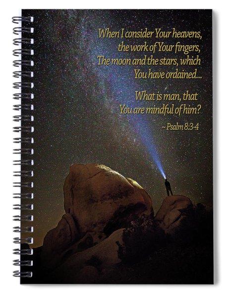 Consider The Heavens Spiral Notebook