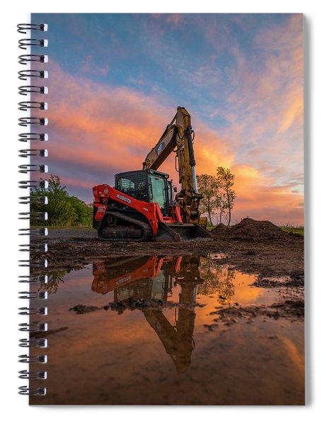 Construction Sunset Spiral Notebook