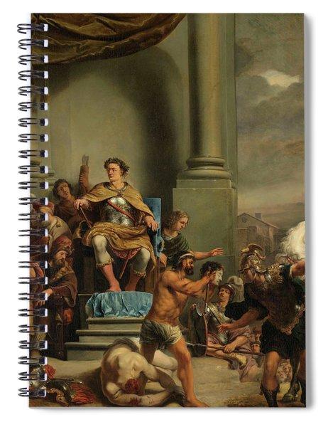 Consul Titus Manlius Torquatus Orders The Beheading Of His Son, 1664 Spiral Notebook