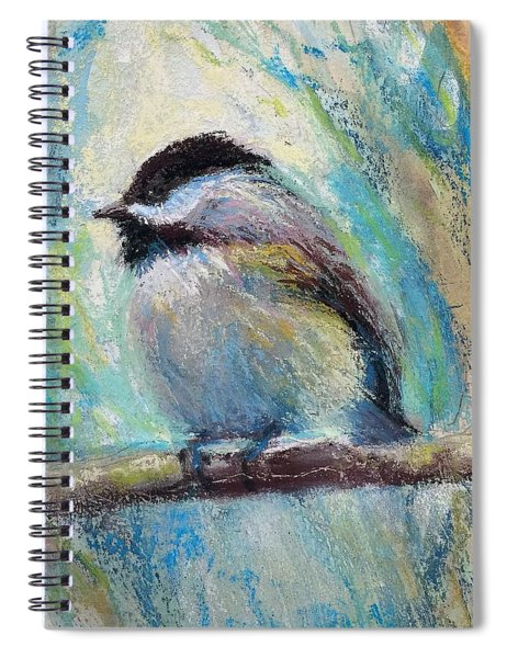 Content Chickadee Spiral Notebook
