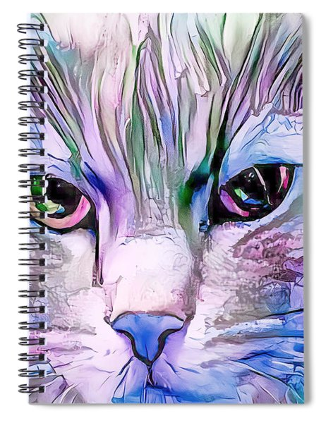 Cool Blue Cat Spiral Notebook