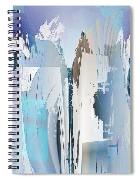 Cool Color Abstract Spiral Notebook