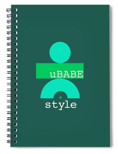Cool Green Style Spiral Notebook