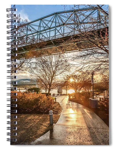 Coolidge Park Path At Sunset Spiral Notebook