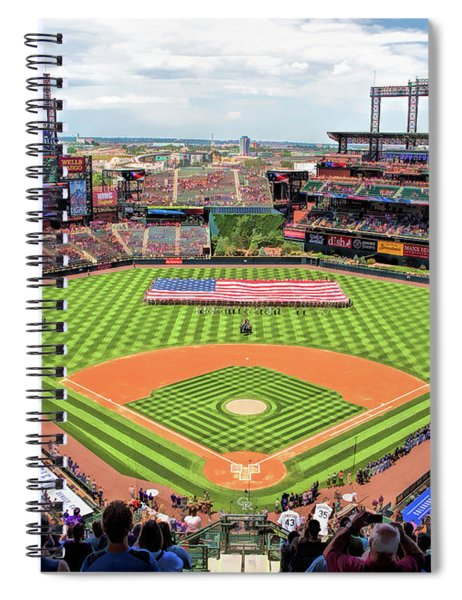Coors Field Colorado Rockies Baseball Ballpark Stadium Spiral Notebook