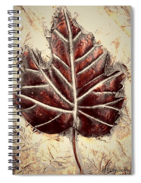 Copper Leaf Spiral Notebook