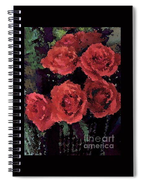 Coral Colored Roses With Watercolor Effect Spiral Notebook