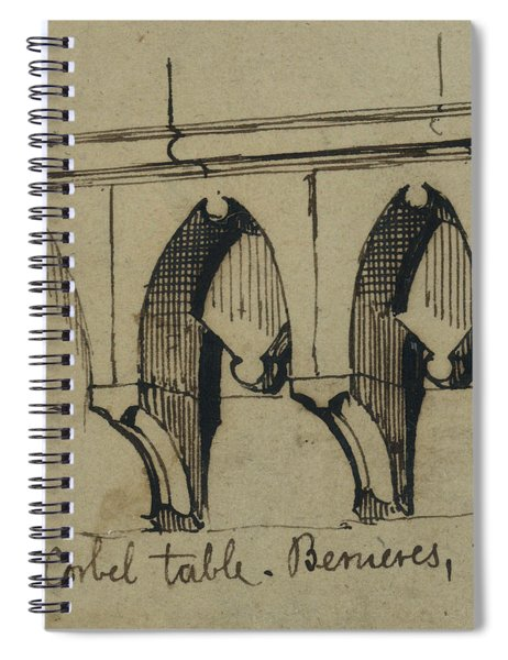 Corbel Table - Benieves, France Spiral Notebook