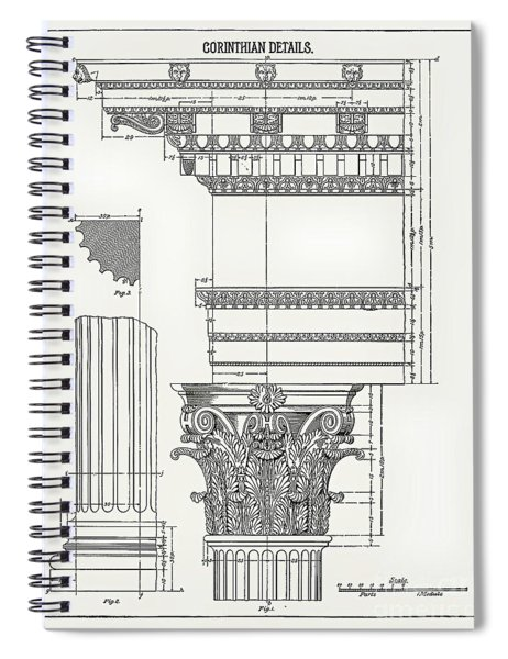 Corinthian Architecture Spiral Notebook