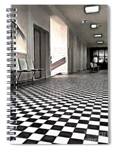 Corridor In A Quiet Medical Office Spiral Notebook