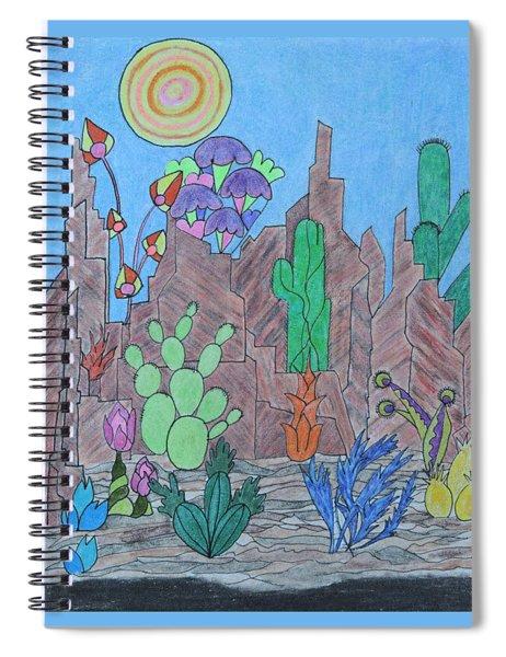 Cosmic Cacti Spiral Notebook