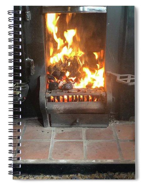 Cosy Winter Fire Spiral Notebook