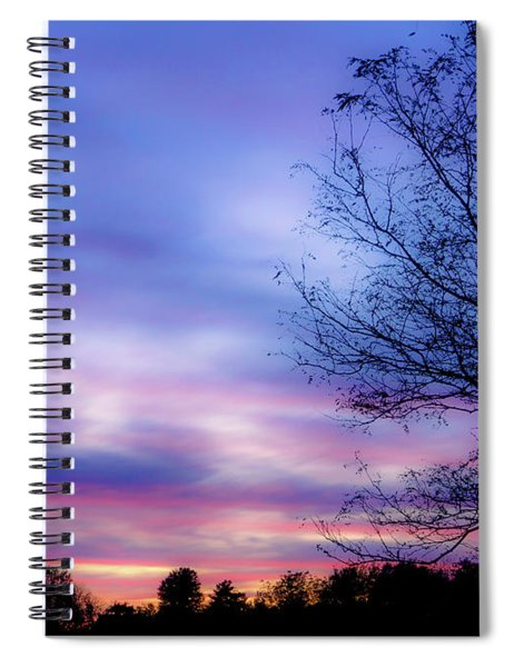 Cotton Candy Sunset In October Spiral Notebook