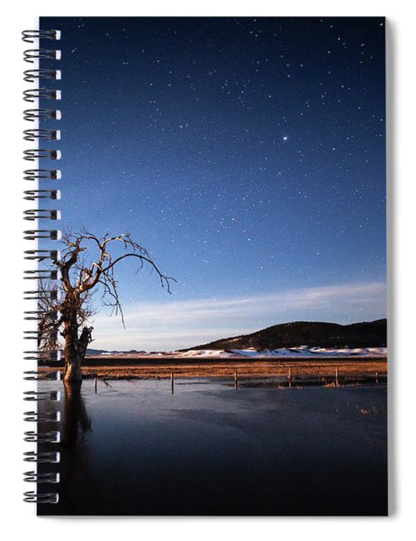 Cottonwood Under Moonlight Spiral Notebook