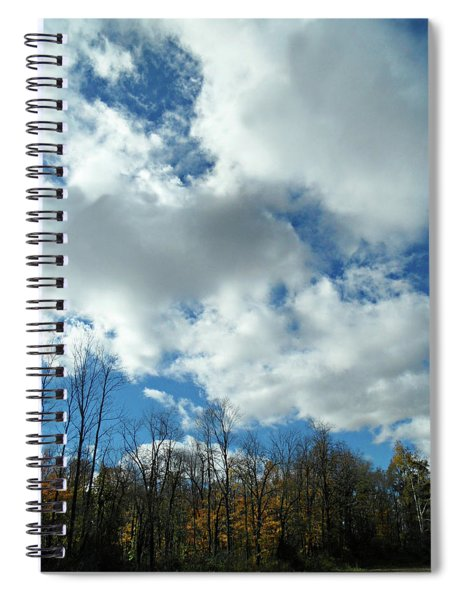 Country Autumn Curves 10 Spiral Notebook
