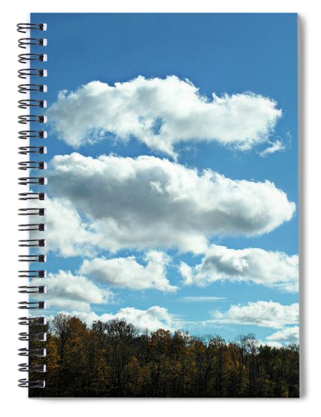 Country Autumn Curves 11 Spiral Notebook