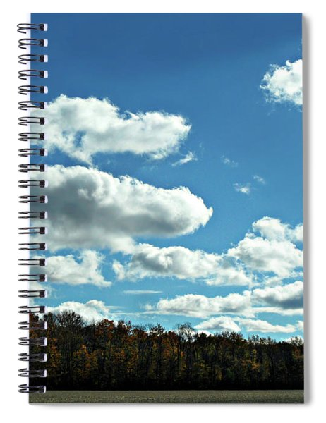 Country Autumn Curves 12 Spiral Notebook