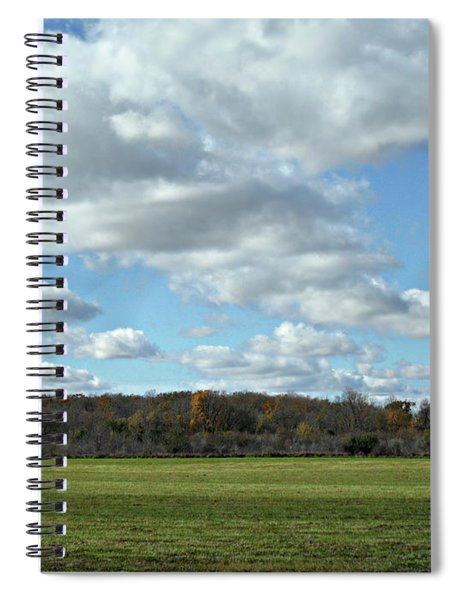Country Autumn Curves 6 Spiral Notebook